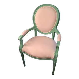 Mint Green Indoor/Outdoor Louis XVI Armchair