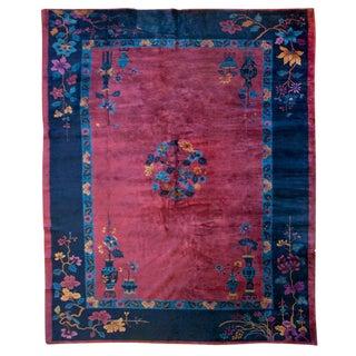 Chinese Art Deco Carpet - 9′ × 12′