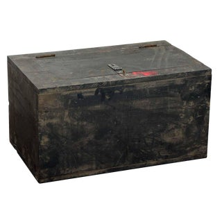 Distressed Gray Wooden Chest