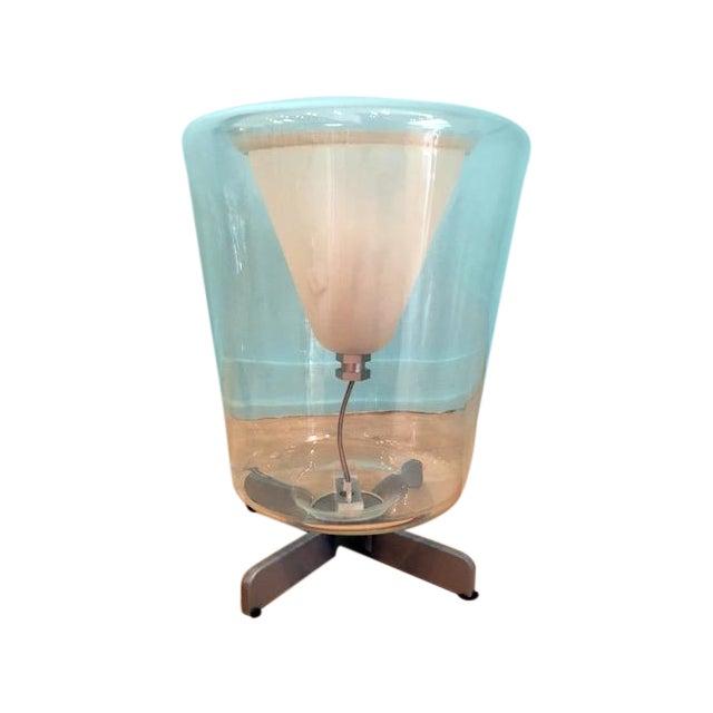 Image of Transparent Oluce Lanterna Murano Glass Table Lamp