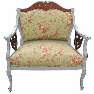 French Restoration-Style Fauteuil
