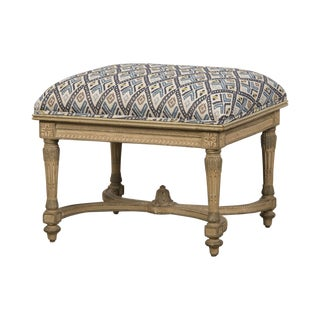 French Louis XVI Style Painted Bench circa 1890