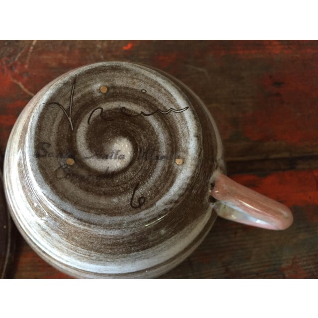 Stylized Spiral Tea Cup & Saucer - Image 8 of 9
