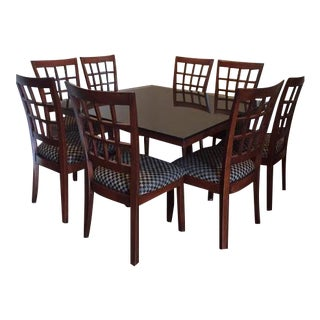 Vintage used dining table chair sets chairish for Dining sets nashville tn
