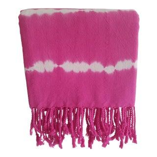 Pink Tie-Dyed Turkish Towel