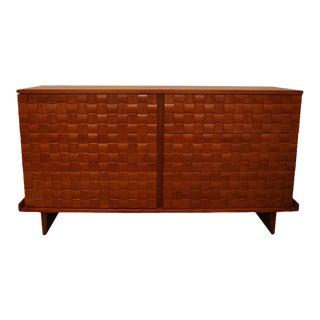 Paul Lazslo Basketweave Dresser