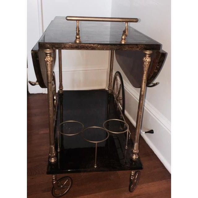 Aldo Tura Goatskin Bar Cart - Image 4 of 7
