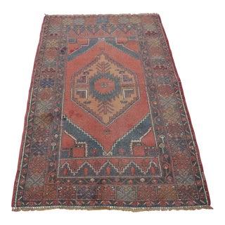 Vintage Turkish Anatolian Rug - 3′6″ × 5′5″