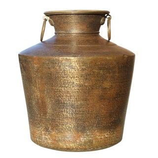 Large Antique Brass Planter