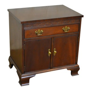 Baker Chippendale Style Mahogany Nightstand