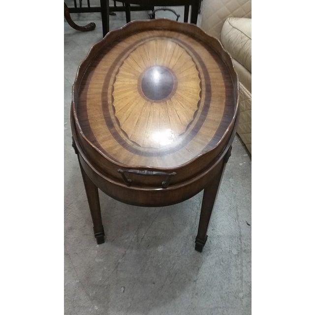 Maitland Smith Oval Tray Table - Image 3 of 8
