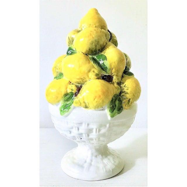 Italian Majolica Lemon Topiary ( 2 Available), Mid-Century - Image 9 of 11