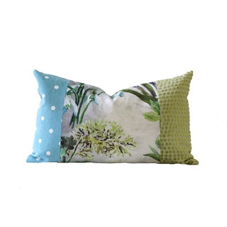Designer Blue and Green Down Pillow