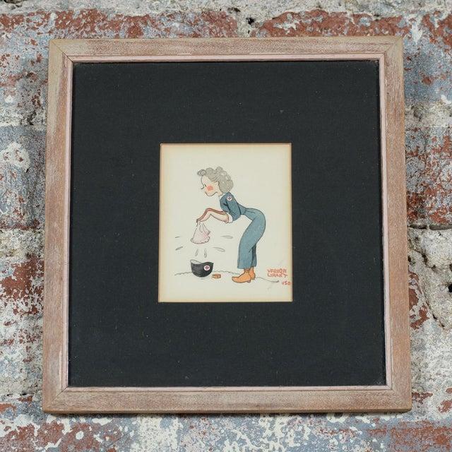 Image of Vernon Grant Original WWII Cartoon Illustration