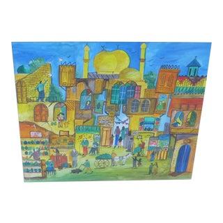 Contemporary Islamic Mixed Media Painting