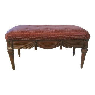 Upholstered Wooden Bench Seat