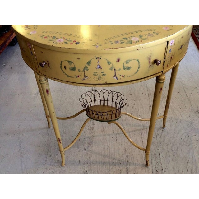 Hand-Painted French Demilune Console - Image 4 of 8
