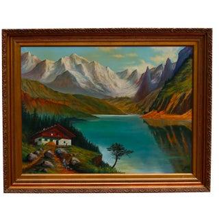 1954 Landscape Painting by Rudolf Chmelik