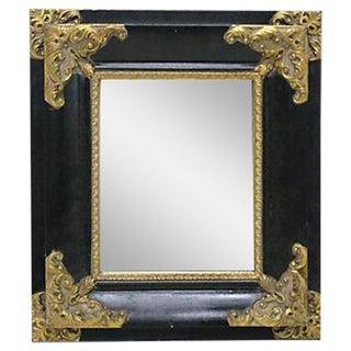Italian Black & Gilded Mirror
