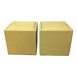 Martin Roberts Leather Nexus Storage Cubes- A Pair