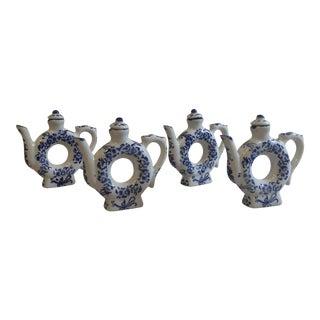 Vintage Teapot Silverstri Napkins Rings - Set of 4