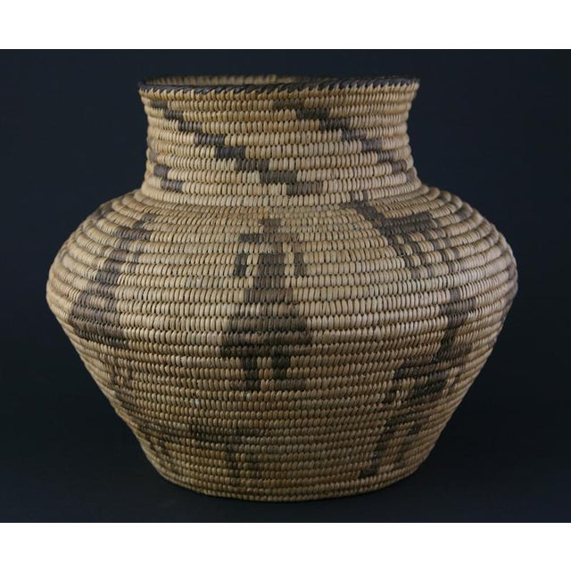 Pima Figurative Basketry Olla, circa 1920 - Image 4 of 7