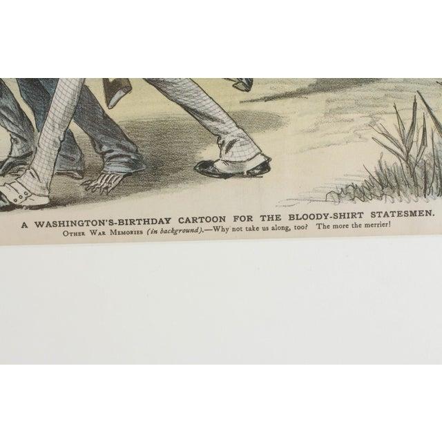 1888 Puck Political Cartoon Chromoliths - A Pair - Image 3 of 9