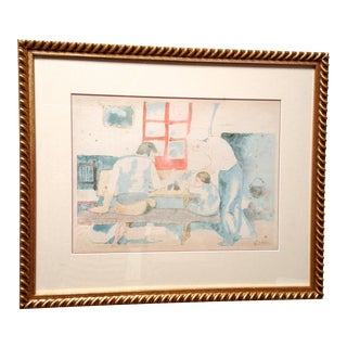 Pablo Picasso Family at Supper Lithograph