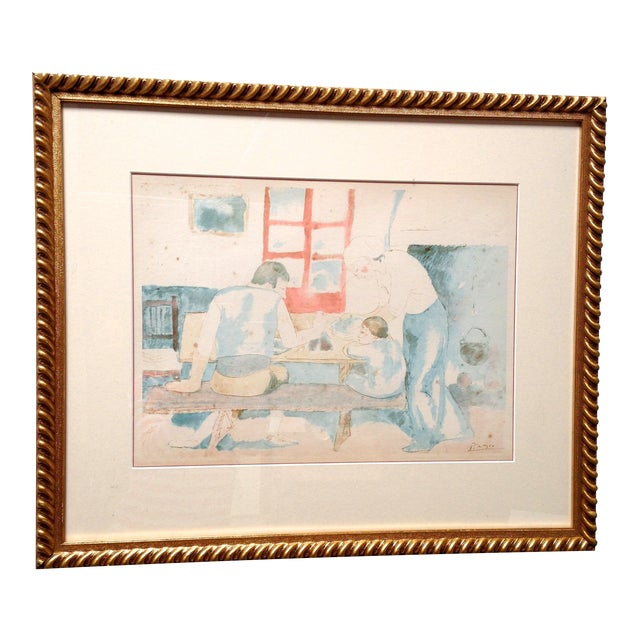 Image of Pablo Picasso Family at Supper Lithograph