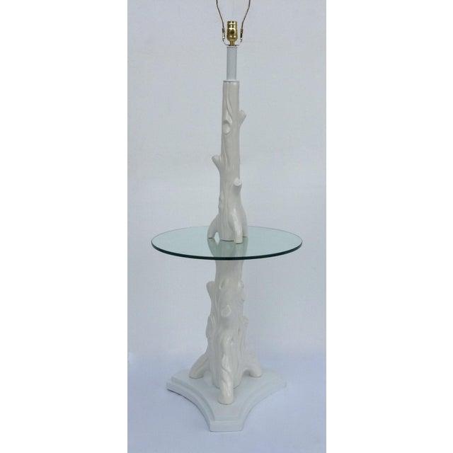 Mid-Century Porcelain Faux-Bois Floor Lamp - Image 2 of 11