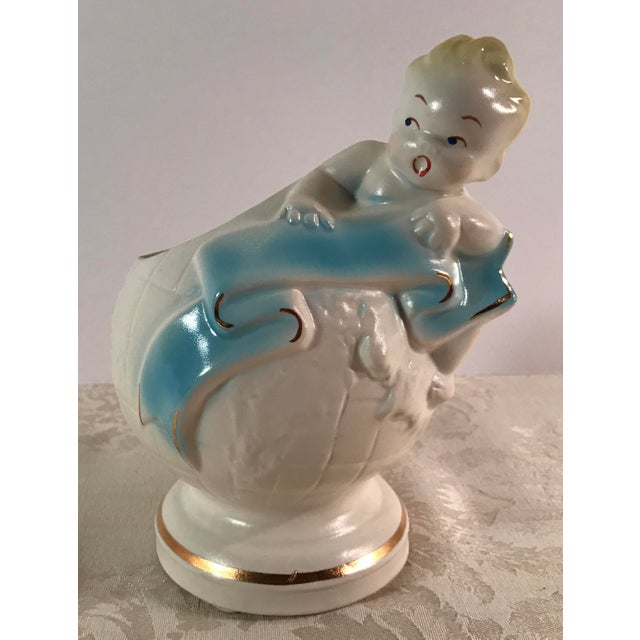 Art Deco Baby & Globe Ceramic Vase - Image 2 of 11