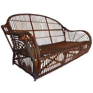 Handsome Stick Wicker Sofa