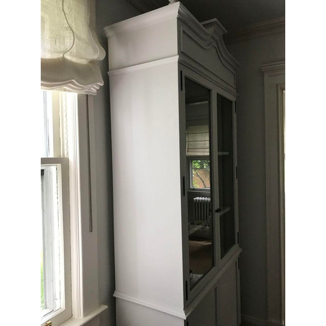 Tall Oly Swedish Style Glass Door Cabinet - Image 4 of 10