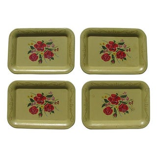 Mid-Century Hors d'Ouevres Trays - S/4