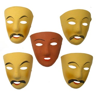 French Mardi Gras Masks - Set of 5