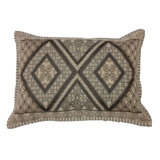 Over the Taupe Lumbar Embroidered Pillow