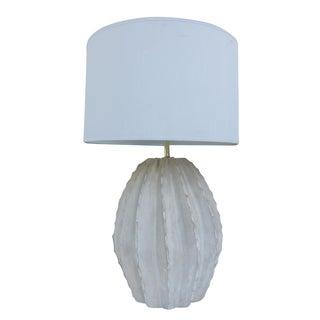 Vintage Fluted Plaster Table Lamp