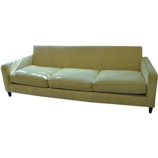 Ballard Designs Queens Velvet Yellow Vintage Sofa