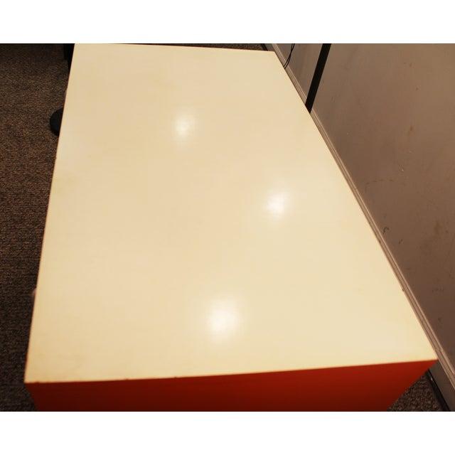 Atomic Orange Laminate Dresser - Image 10 of 11