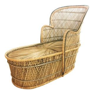 Vintage Rattan Peacock Lounge Chair