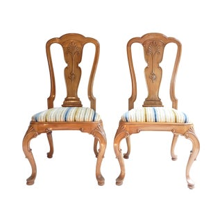 French Country Hall Chairs - A Pair