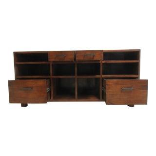 Mid Century Danish Modern Walnut Sideboard Media Stand Console Buffet