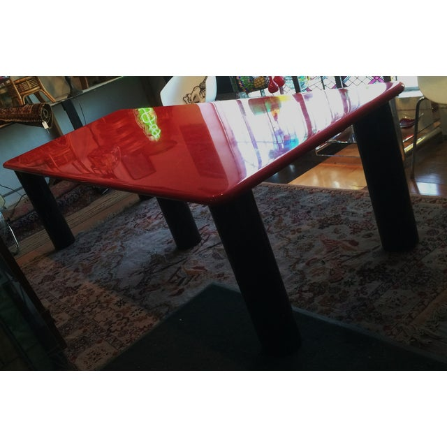 Vintage Italian Red Lacquer Table - Image 6 of 9