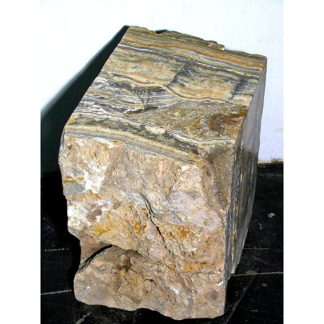 Petrified Onyx Stump Side Table - Image 4 of 4