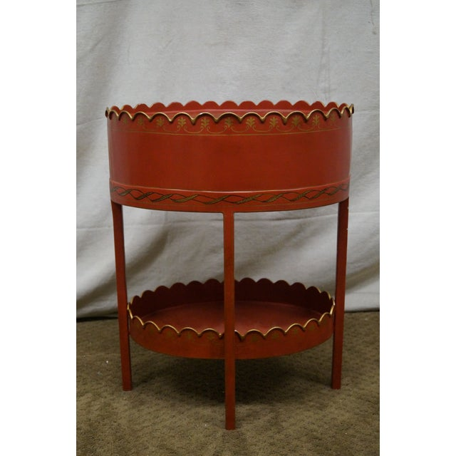 Image of Maitland Smith Metal Tole Painted Drawer Stand