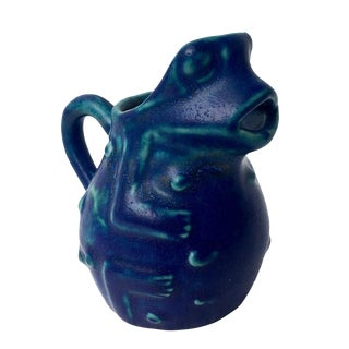 Arts & Crafts Handled Frog Vessel