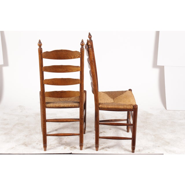 19th-C. English Rush Seat Dining Chairs - S/4 - Image 3 of 8