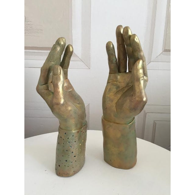Sculptural Hand-Made Hands - Pair - Image 7 of 9