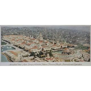 1915 World Expo San Francisco Print of Plane View