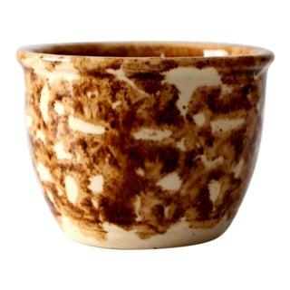Antique Bennington Rockingham Glaze Custard Cup